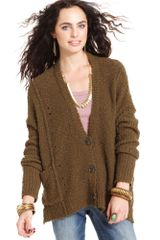 Free People Long Sleeve V Neck Cardigan - Lyst