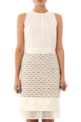 Giambattista Valli Metallic Boucle and Silk Dress - Lyst
