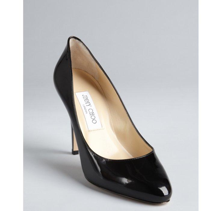 0f6cc0e6c ... czech lyst jimmy choo black patent leather tapered round toe vikki pumps  6383c ad299