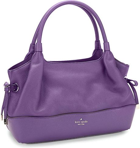 Kate Spade Stevie Side Tie Purple Handbag in Purple