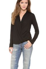 Lanston Surplice Long Sleeve Top - Lyst