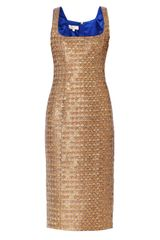 L'Wren Scott Snake Jacquard Sleeveless Dress - Lyst