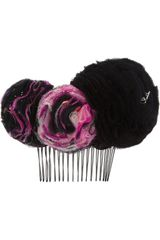 Maison Michel Maiko Silk and Tulle Hair Slide - Lyst