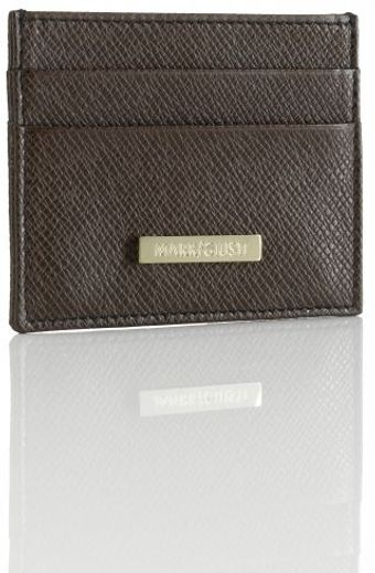 Mark/giusti Testa Di Moro Brown Leather All You Need Credit Card Holder - Lyst