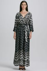 Melissa Masse Printed Maxi Dress - Lyst