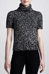 Michael Kors Marled Shortsleeve Turtleneck - Lyst