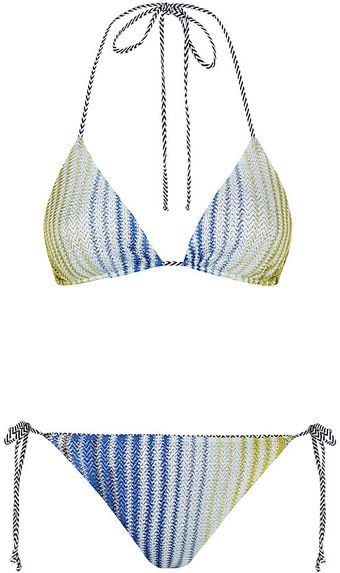Missoni Mare Striped Triangle Bikini - Lyst