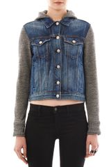 Rag & Bone Bradford Hooded Denim Jacket - Lyst