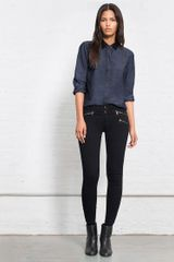 Rag & Bone Classic Shirt With Leather Tinted Resin - Lyst
