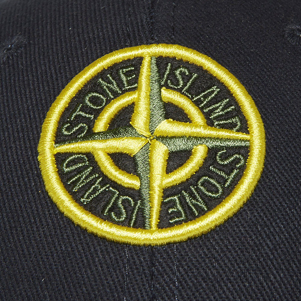 lyst stone island logo cap in blue for men. Black Bedroom Furniture Sets. Home Design Ideas