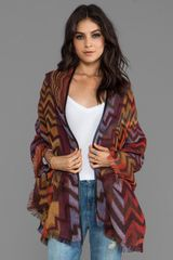 Tolani Isabella Cape in Brick - Lyst