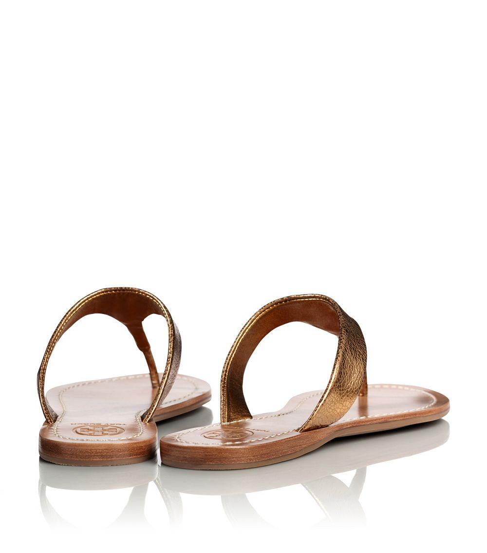 7ddc9089a Lyst - Tory Burch Metallic Cameron Thong Sandal in Metallic
