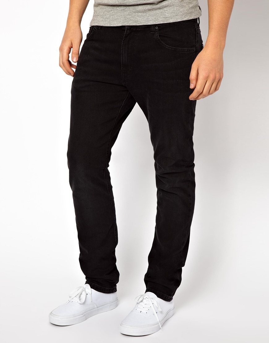 Wesc Jeans Eddy Slim Fit Black Worn Wash in Blue for Men | Lyst