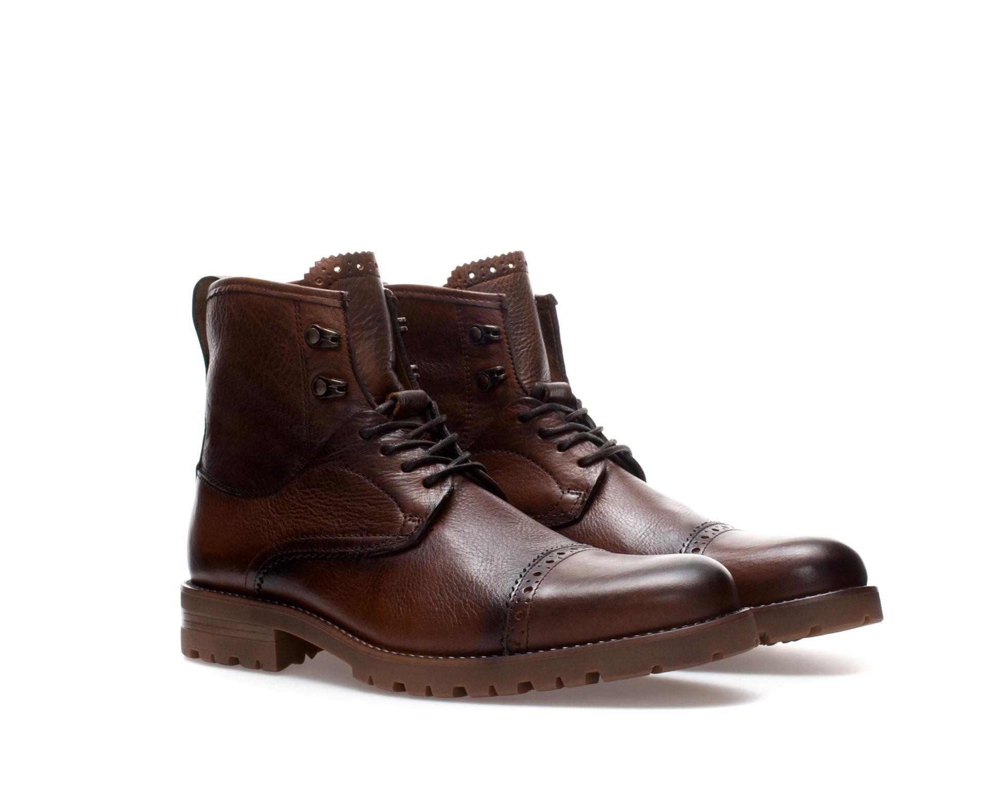 Zara Dress Brogue Boot In Brown For Men Lyst