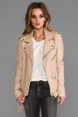 Blk Dnm Leather Jacket 8 in Beige - Lyst