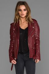 Blk Dnm Leather Jacket 8 in Red - Lyst