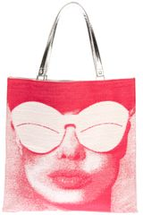 Courreges Printed Tote - Lyst