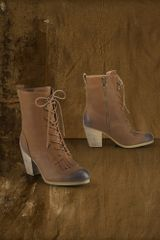 Denim & Supply Mesa Leather Lace-Up Bootie - Lyst