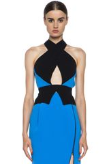Dion Lee Halter Peplum Top - Lyst