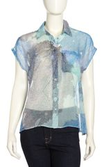 Equipment Marley Print Sleeveless Silk Blouse Bright White Multicolor - Lyst