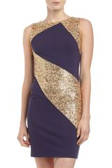 Erin Fetherston Sequined Ponte Combo Sheath Cocktail Dress - Lyst