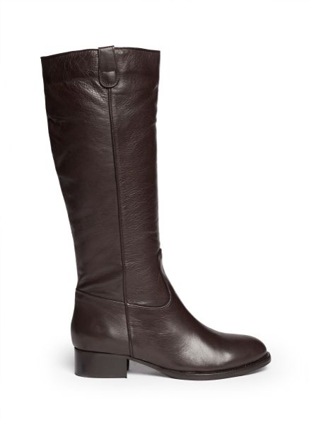 fabio rusconi fur lined boots in brown neutral and brown