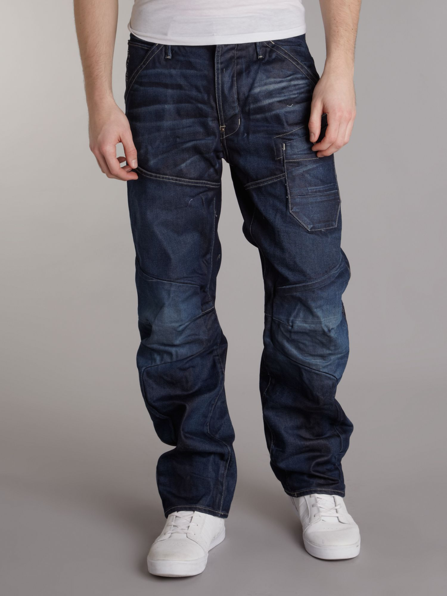 lyst g star raw loose fit washed jeans in blue for men. Black Bedroom Furniture Sets. Home Design Ideas