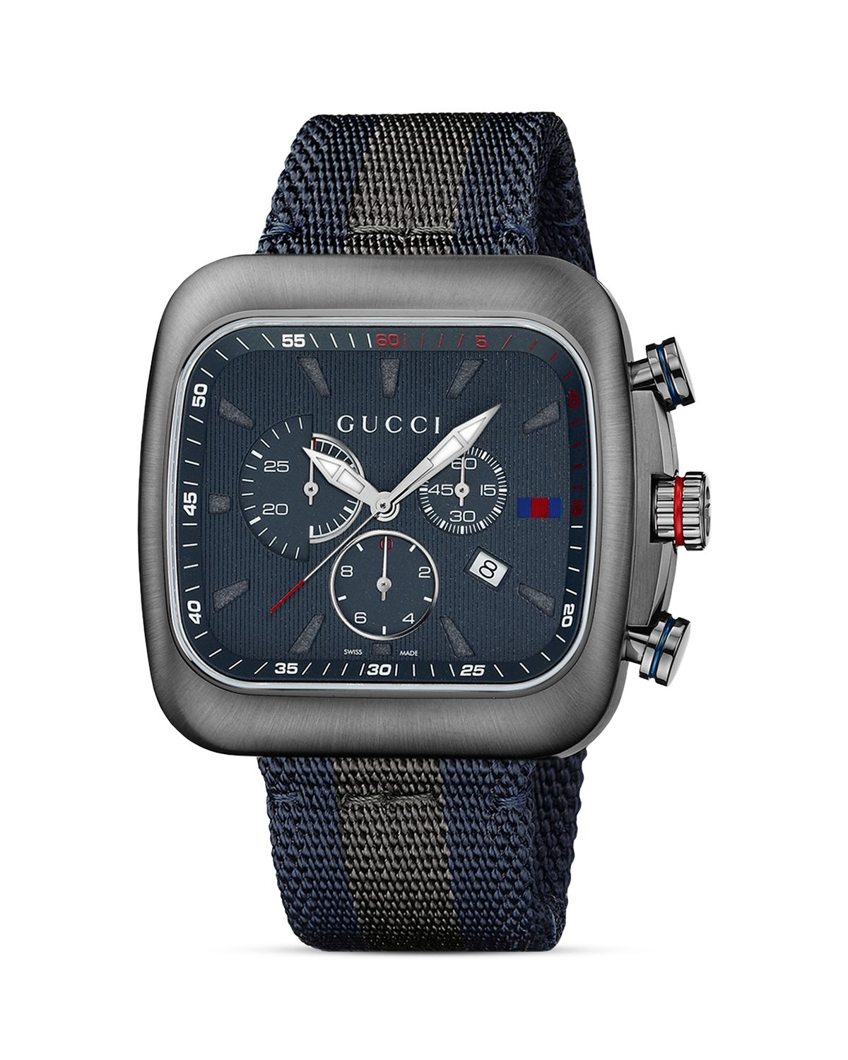 760780713d4 Lyst - Gucci Coupe 44mm Chronograph Nylon Strap Watch-ya131203 in ...