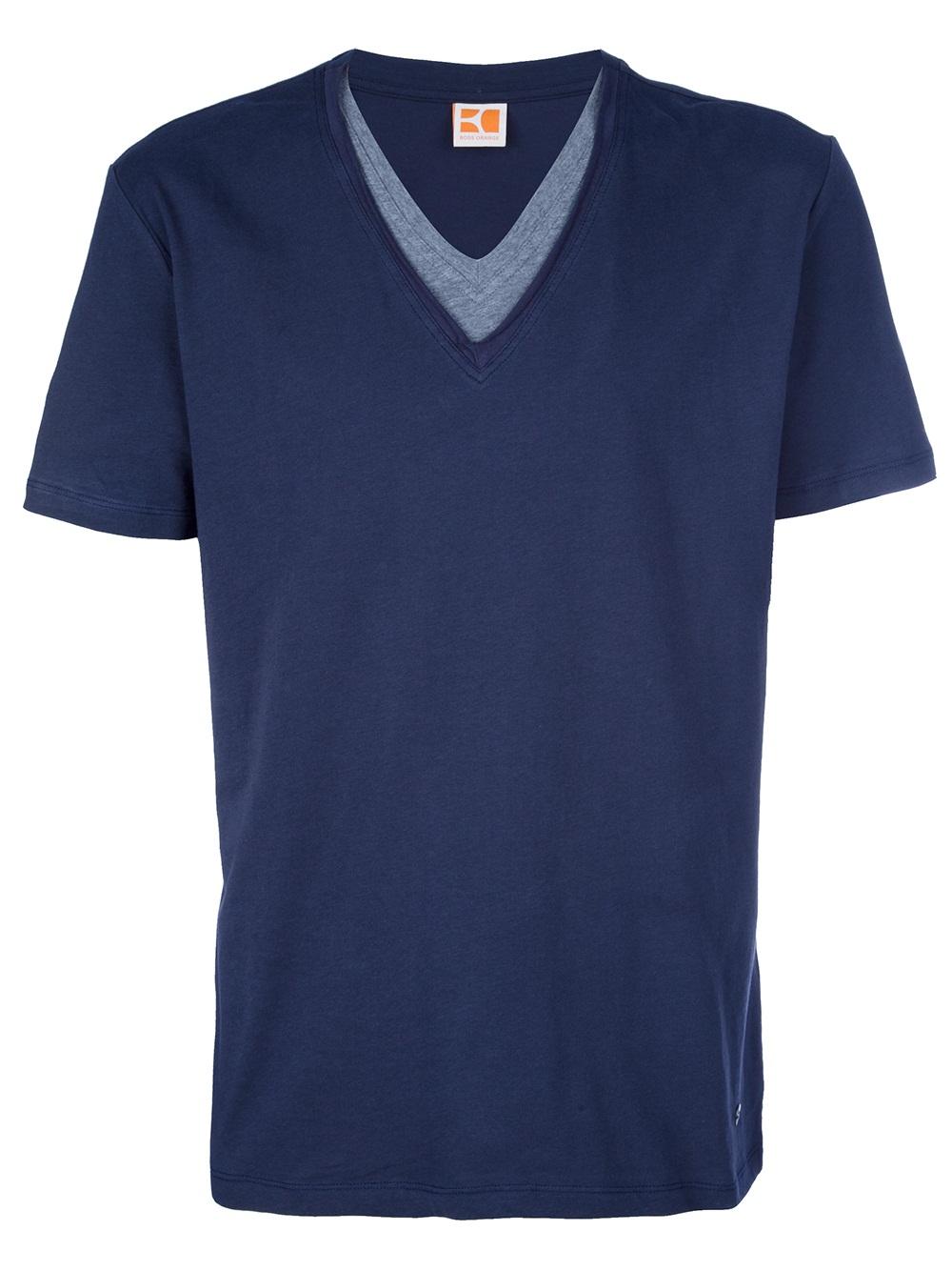 hugo boss orange navy tshirt in blue for men lyst. Black Bedroom Furniture Sets. Home Design Ideas
