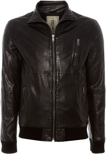 Label Lab Valens Leather Bomber Jacket - Lyst
