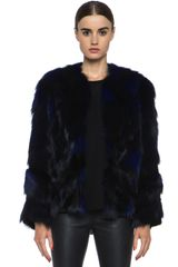 Matthew Williamson Patchwork Fur Jacket - Lyst