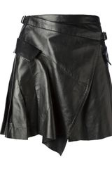 McQ by Alexander McQueen Leather Skirt - Lyst