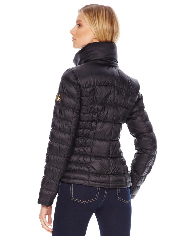 Lyst Michael Kors Short Puffer Jacket In Black