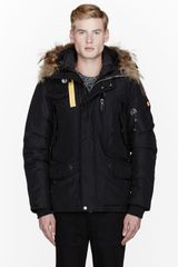 Parajumpers Black Raccoon Fur Hood Layered Right Hand Jacket - Lyst
