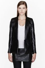 Rad By Rad Hourani Black Leather Unisex Tuxedo Jacket - Lyst