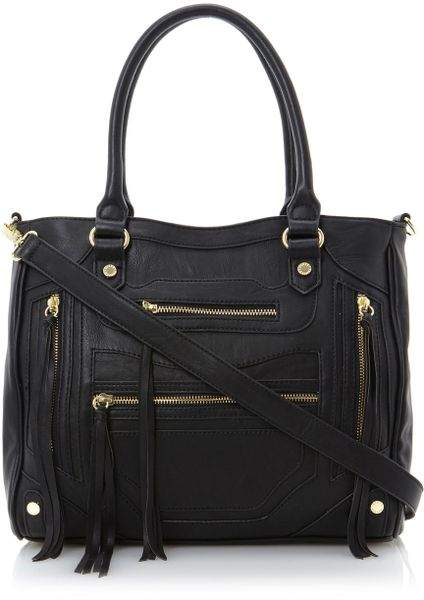 Steve Madden Bizzy Sm Multi Zip Pocket Bag In Black Lyst