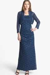 Alex Evenings Embellished Lace Gown Bolero - Lyst