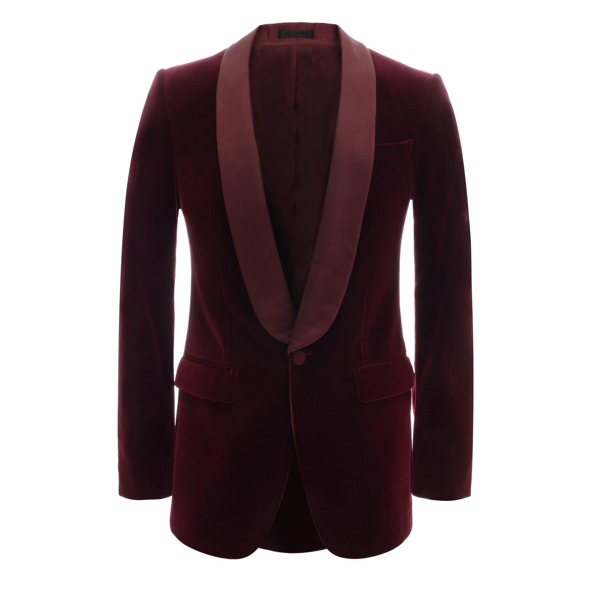 lyst alexander mcqueen velvet tuxedo jacket in red for men