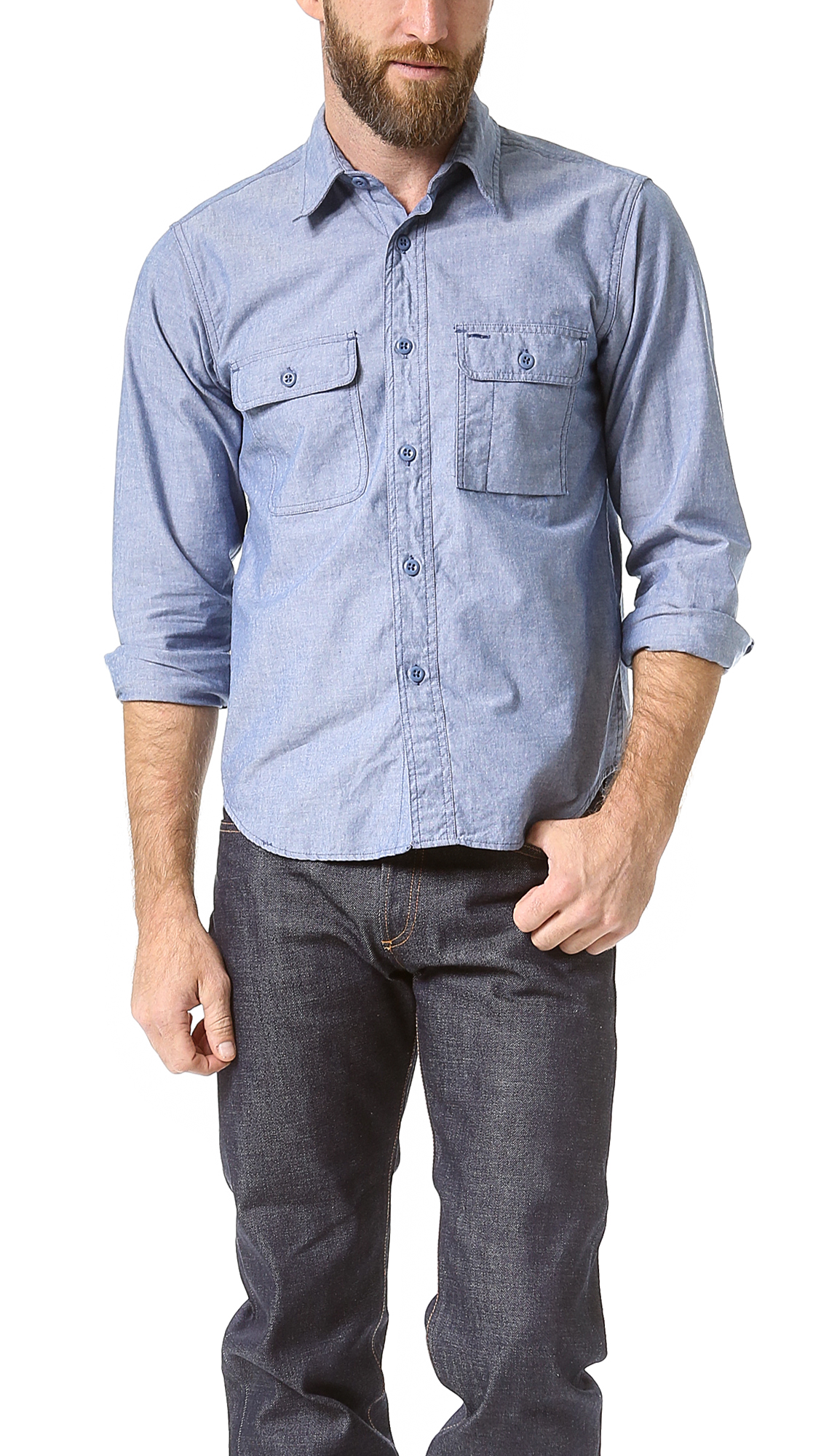 92cdce6dc0b Light Blue Chambray Work Shirt – EDGE Engineering and Consulting Limited
