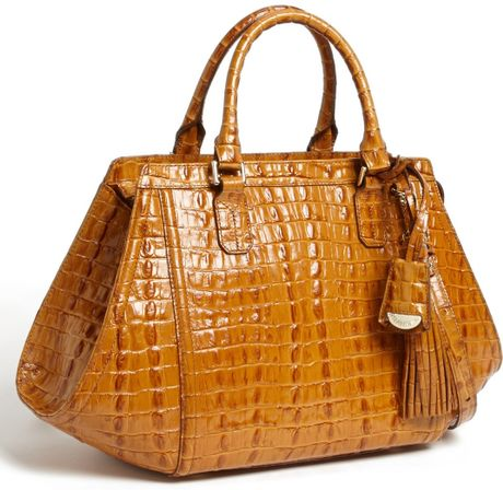 Brahmin La Scala Arden Satchel in Brown (Whiskey)