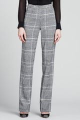 Escada Glen Plaid Classic Pants - Lyst