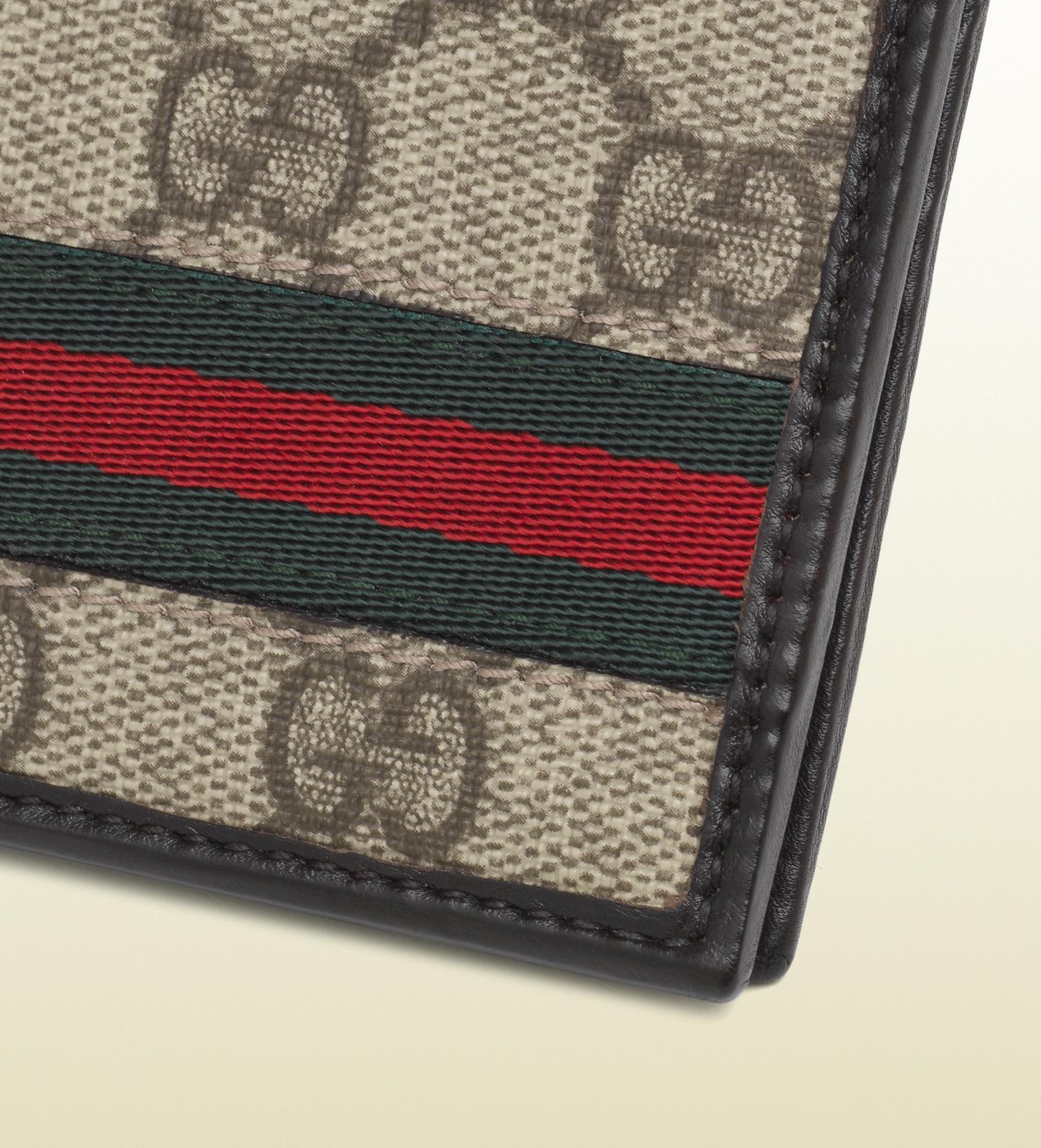 a2b37c3b219 Gucci Supreme Web Wallet