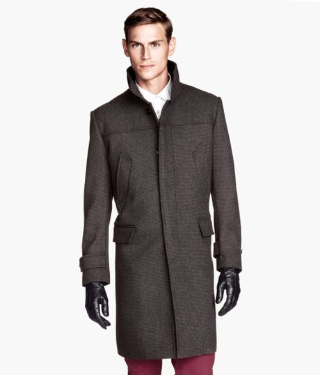 H&m Coat in a Wool Blend