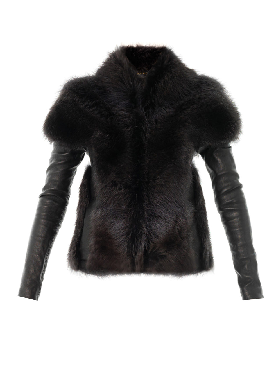 Black exterior with silvery fur lining, with extra long fur around the collar and sleeves. Leather exterior makes for easy cleaning, soft to the touch, lightweight, and windbrea NEW LIGHTWEIGHT % REAL SHEEPSKIN SHEARLING LEATHER BLACK COAT JACKET FUR S-3X.
