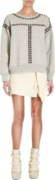 Isabel Marant Scotty Studded Sweatshirt - Lyst
