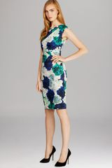 Karen Millen Roseprint Signature Stretch Dress - Lyst