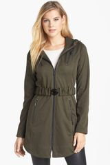 Laundry By Shelli Segal Hooded Soft Shell Jacket - Lyst