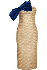 L'Wren Scott Metallic Jacquard and Velvet Dress - Lyst