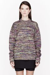 Maison Martin Margiela Yellow and Purple Irregular Stripe Sweater - Lyst