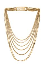 Michael Kors Curb Multichain Necklace 28 - Lyst